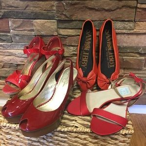 Red hot summer shoes! Ballerina's in red👠